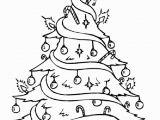 Free Printable Christmas Tree Coloring Page Drawn Christmas Tree Pretty 11 728 X 1036