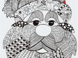 Free Printable Christmas Zentangle Coloring Pages Santa Clause Patterns