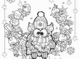 Free Printable Christmas Zentangle Coloring Pages Zentangle Christmas Owl by Irina Yazeva Coloring Pages