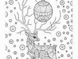 Free Printable Christmas Zentangle Coloring Pages Zentangle Christmas Reindeer Coloring Page • Free