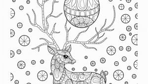 Free Printable Christmas Zentangle Coloring Pages Zentangle Christmas Reindeer Coloring Page • Free