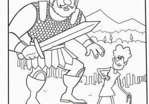 Free Printable Coloring Page Of David and Goliath and Goliath Coloring Pages 2018 05