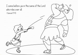 Free Printable Coloring Page Of David and Goliath David and Goliath Coloring Page Eskayalitim