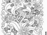 Free Printable Coloring Pages for Adults Advanced Flowers Flower Abstract Doodle Zentangle Zendoodle Paisley Coloring Pages