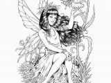 Free Printable Coloring Pages for Adults Fairies Coloring Pages Fairies for Adults Coloring Home
