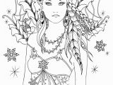 Free Printable Coloring Pages for Adults Fairies Snowbird Fairy Tangles Printable 4×6 Inch Digi Stamp