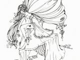 Free Printable Coloring Pages for Adults Fairies so Beautiful