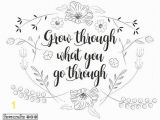 Free Printable Coloring Pages for Adults Inspirational Quotes Grow Like Flowers Adult Coloring Page