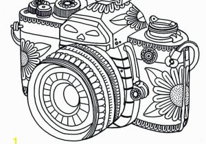 Free Printable Coloring Pages for Adults Pdf Free Printable Coloring Pages Adults Floral Camera Coloring Page at