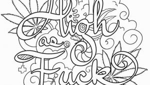 Free Printable Coloring Pages for Adults Swear Words Weed Coloring Pages 420 Swear Words Free Printable