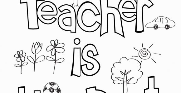 Free Printable Coloring Pages for Teachers Teacher Appreciation Coloring Sheet