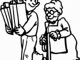 Free Printable Coloring Pages Helping Others Helping Others by Carrying Elderly Groceries Stuff