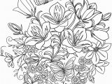 Free Printable Coloring Pages Of Flowers and butterflies butterfly and Flowers Coloring Page