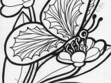 Free Printable Coloring Pages Of Flowers and butterflies butterfly Flower Drawing at Getdrawings