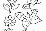 Free Printable Coloring Pages Of Spring Spring Flowers Coloring Page