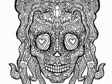 Free Printable Complex Coloring Pages for Adults 49 Girl Sugar Skulls Coloring Pages Printable