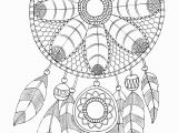 Free Printable Dream Catcher Coloring Pages Free Adult Coloring Page Dreamcatcher
