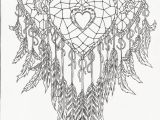 Free Printable Dream Catcher Coloring Pages Heart Dream Catcher Coloring Page