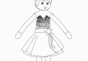 Free Printable Elf On the Shelf Coloring Pages Girl Elf On the Shelf Coloring Page She S Ready for the
