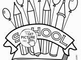 Free Printable First Day Of School Coloring Pages School Supplies Coloring Pages Printables Awesome New Printable Cds