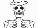 Free Printable Halloween Skeleton Coloring Pages Printable Halloween Skeleton Coloring Page for Kids 1