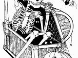 Free Printable Halloween Skeleton Coloring Pages Skeleton In Coffer Halloween Adult Coloring Pages