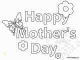 Free Printable Happy Mothers Day Coloring Pages Happy Mother S Day butterfly and Flower Coloring Page