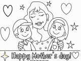 Free Printable Happy Mothers Day Coloring Pages Printable Happy Mothers Day with Her Children Coloring