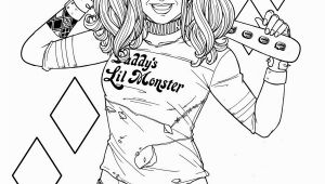 Free Printable Harley Quinn Coloring Pages Ideas for Printable Harley Quinn Coloring Pages