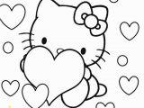 Free Printable Hello Kitty Valentines Day Coloring Pages Hello Kitty Coloring Pages with Images
