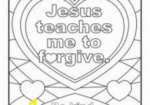 Free Printable Jesus Coloring Pages Jesus Teaches Me to forgive Printable Coloring Page