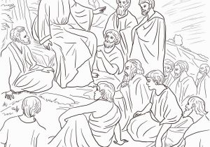 Free Printable Jesus Coloring Pages Jesus Teaching the Disciples Free Coloring Page