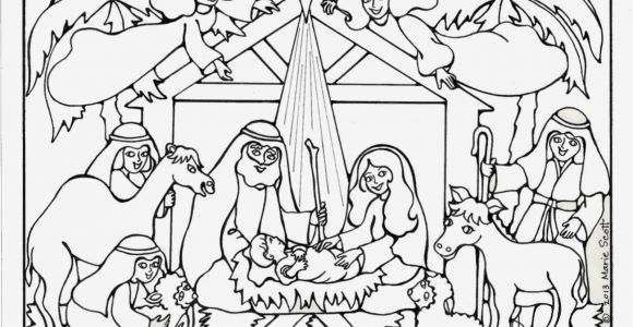 Free Printable Manger Scene Coloring Page Manger Drawing at Getdrawings