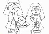 Free Printable Manger Scene Coloring Page Simple Nativity Scene Colouring Page with Images