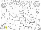 Free Printable New Years Coloring Pages New Year Greeting Connect the Dots and Coloring Page Cu