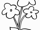 Free Printable Simple Flower Coloring Pages Flowers Printing Pages