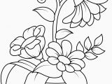 Free Printable Simple Flower Coloring Pages Free Printable Coloring Pages Flowers Awesome Flowerpot