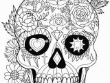 Free Printable Skull Coloring Pages for Adults Free Printable Sugar Skull Day Of the Dead Adult