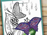 Free Printable Spring Coloring Pages This Beautiful butterfly Coloring Page is Relaxing to Color