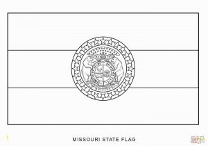 Free Printable State Flags Coloring Pages Missouri State Flag Coloring Page