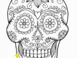 Free Printable Sugar Skull Coloring Pages Sugar Skull Coloring Pages