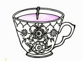Free Printable Tea Cup Coloring Pages Tea Cup Coloring Page Beautiful Vintage Tea Cup Drawing at