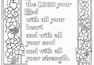 Free Printable Ten Commandments Coloring Pages Deuteronomy 6 5 Print and Color Page with Images