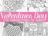 Free Printable Valentines Day Coloring Pages for Adults Free Valentines Day Coloring Pages for Adults