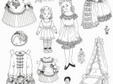 Free Printable Vintage Christmas Coloring Pages A Victorian Child and Her Little Playmates by Helen Page