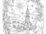 Free Printable Vintage Christmas Coloring Pages Erwachsenen Färbung Christlichen Weihnachten Färbung Seite