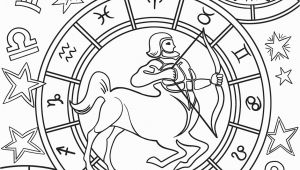Free Printable Zodiac Coloring Pages Sagittarius Zodiac Sign Coloring Page