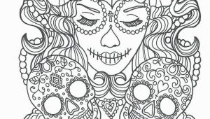 Free Sugar Skull Coloring Pages Cool Sugar Skull Coloring Pages Ideas