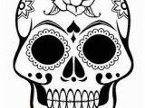Free Sugar Skull Coloring Pages Sugar Skull Template Sugar Skull Coloring Page Dia De Los