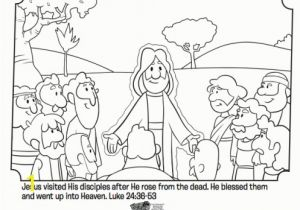 Free Sunday School Coloring Pages for Easter Jesus Appears to His Disciples Bible Coloring Pages